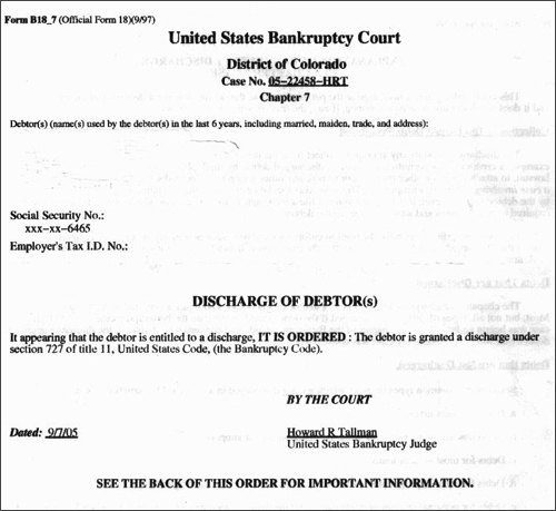 bankruptcy paper There's no legal mandate requiring you to keep your bankruptcy paperwork after your debts are discharged bankruptcy lawyers say, however, that for practical reasons you should keep your bankruptcy petition and discharge papers forever.