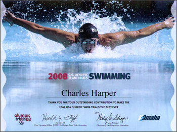 2008 U.S. Olympic Team Trials Certificate